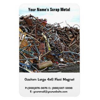 Scrap Metal Pieces of Junk Rectangular Photo Magnet