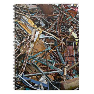 Scrap Metal Pieces of Junk Spiral Notebook