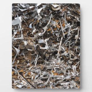 scrap metal photo plaque