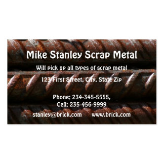 Scrap Metal Recycle collection  Custom Business Business Card