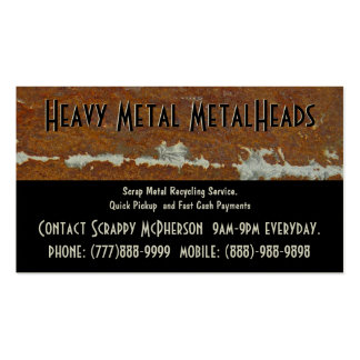 Scrap Metal Recycler Dump or Depot Center Business Card Template