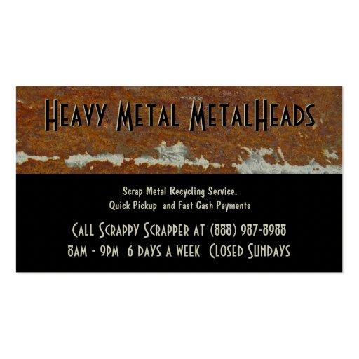 Metal recycling business card templates bizcardstudio scrap metal recycler dump or depot center business card templates reheart Choice Image