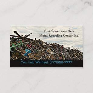 Metal recycling business cards zazzle scrap metal recycler dump or depot center business card reheart Choice Image