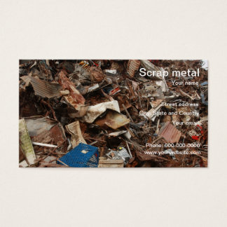 Metal recycling business cards templates zazzle scrap metal recycling business card reheart Choice Image