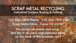 Metal recycling business cards zazzle scrap metal recycling business cards reheart Choice Image