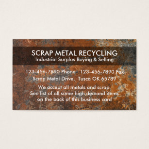 Metal recycling business cards templates zazzle scrap metal recycling business cards reheart Gallery