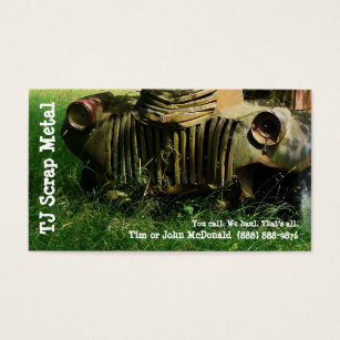Scrap business cards templates zazzle scrap metal recycling garbage pickup business card reheart Gallery