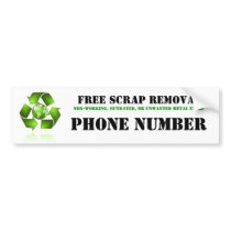 Scrap Metal Removal Bumper Sticker