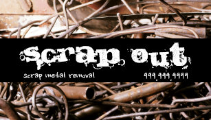 Recycling junk scrap metal business cards templates zazzle scrap metal removal recycling junk business card reheart Gallery