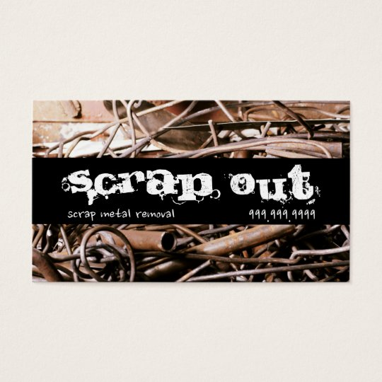 Scrap metal removal recycling junk business card zazzle scrap metal removal recycling junk business card reheart Gallery