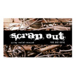 Scrap Metal Removal Recycling Junk Business Cards