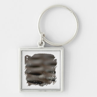 Scrap Metal Silver-Colored Square Keychain