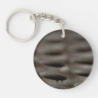 Scrap Metal Single-Sided Round Acrylic Keychain