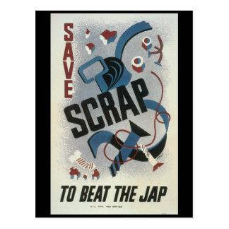 Scrap Metal World War 2 Postcard