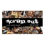 Scrap Metal Yard Removal Recycling Junk Double-Sided Standard Business Cards (Pack Of 100)