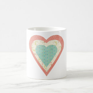 Scrap Paper Hearts Coffee Mug