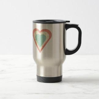 Scrap Paper Hearts Travel Mug