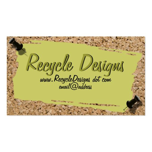 Scrap Paper On Cork Photograph Border Double-Sided Standard Business Cards (Pack Of 100)