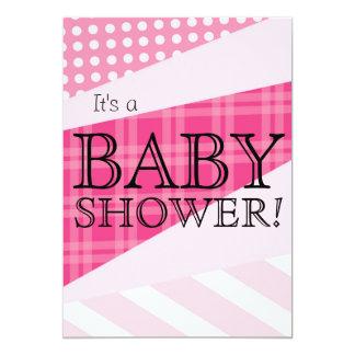 Scrap Quilt Pink Baby Shower Invitation