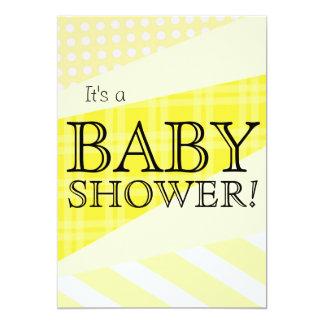 Scrap Quilt Yellow Baby Shower Invitation