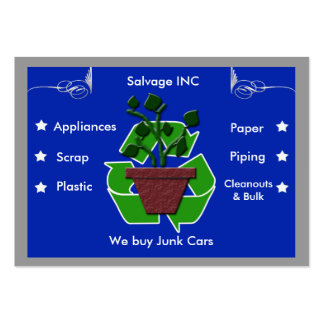 scrap recyclers large business card