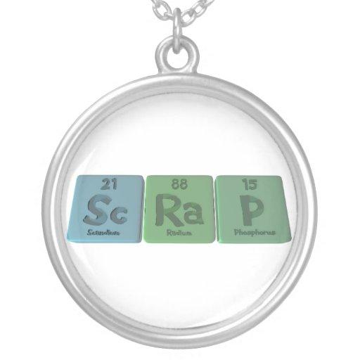 Scrap-Sc-Ra-P-Scandium-Radium-Phosphorus.png Pendientes Personalizados