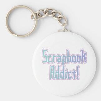 Scrapbook Addict Tshirts and Gifts Keychain