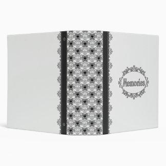Scrapbook (Black And White) 3 Ring Binder