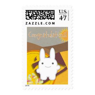 Scrapbook Bunny Sunshine Congratulations Stamp