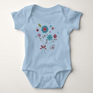 Scrapbook Butterflies And Flowers Baby BodySweet Baby Bodysuit