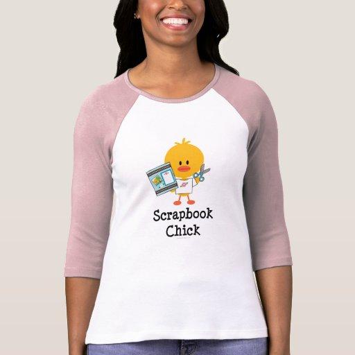 Scrapbook Chick Raglan T-shirt