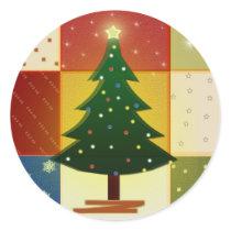 Scrapbook Christmas tree stickers