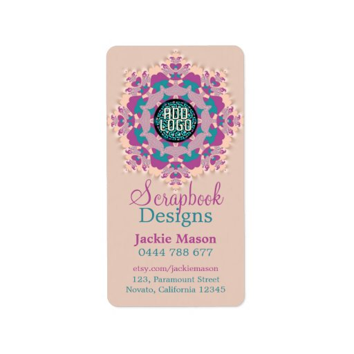 Scrapbook Crafts Pinks Product Address Sticker Lab