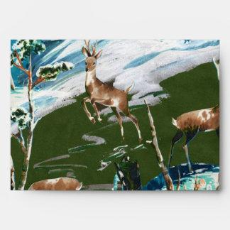 Scrapbook Deer Envelope