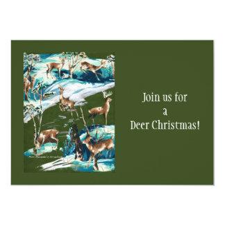 Scrapbook Deer Invitation