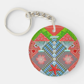 Scrapbook Delight Paper Buttons Gifts for Crafters Keychain
