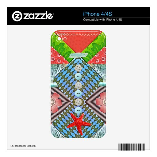 Scrapbook Delight Paper Buttons Gifts for Crafters iPhone 4 Skins