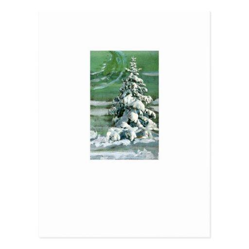 Scrapbook Fir Tree Postcard