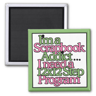 Scrapbook Hobby 2 Inch Square Magnet