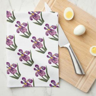 Scrapbook Iris Dish Towel