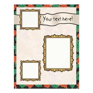 Scrapbook Layout Pages -  Burlap Letterhead