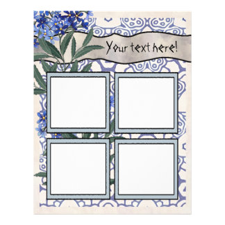 Scrapbook Layout Pages - Four Frames