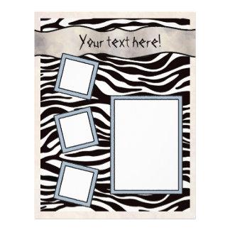 Scrapbook Layout Pages - Zebra Stripes Letterhead