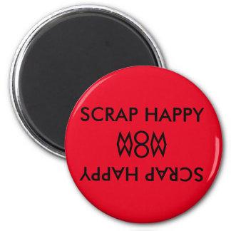Scrapbook Maganet 2 Inch Round Magnet