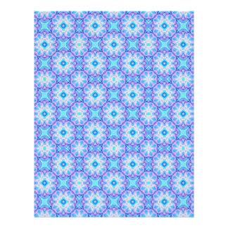 Scrapbook Paper Blue Kaleidoscope Pattern Letterhead