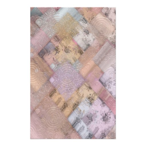 Scrapbook Paper - Floral Patchwork 1 Personalized Stationery