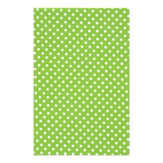 Scrapbook Paper - Green Polkadot Stationery Design