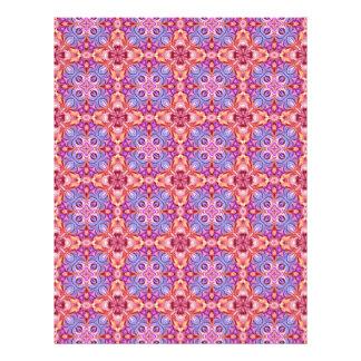 Scrapbook Paper Kaleidoscope Design Blue Orange Letterhead