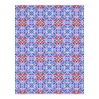 Scrapbook Paper Kaleidoscope Design Letterhead
