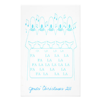 Scrapbook Paper Light Blue Choir Boys and Notes Stationery